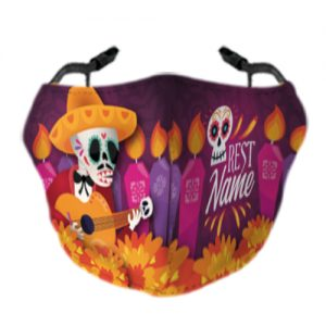 Day Of The Dead Face Mask 4